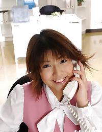 Seductive Japanese office beauty Mai Haruna erotic dance off her clothing