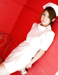 Rounded eastern nurse Haruka Sanada attractive off her uniform and lacy shorts