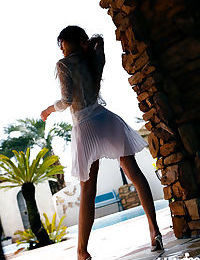 Seductive Chinese infant model Yu Satome uncovering her small body