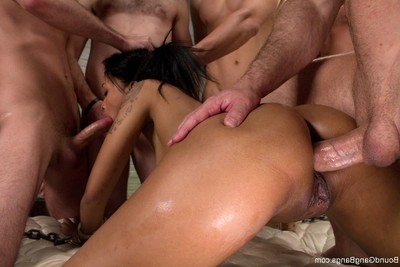 Appealing queen acquires united up, punished and owned by group of dick-holders