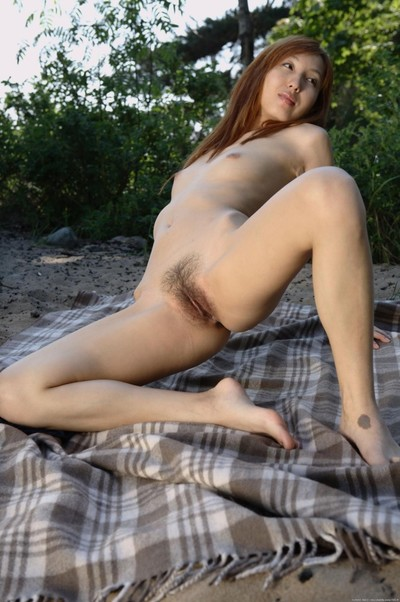 Shaggy slender Japanese doll tatiana amplifying