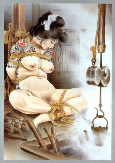 Classic japanese servitude paintings