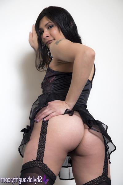 Ebon sheer short skirt