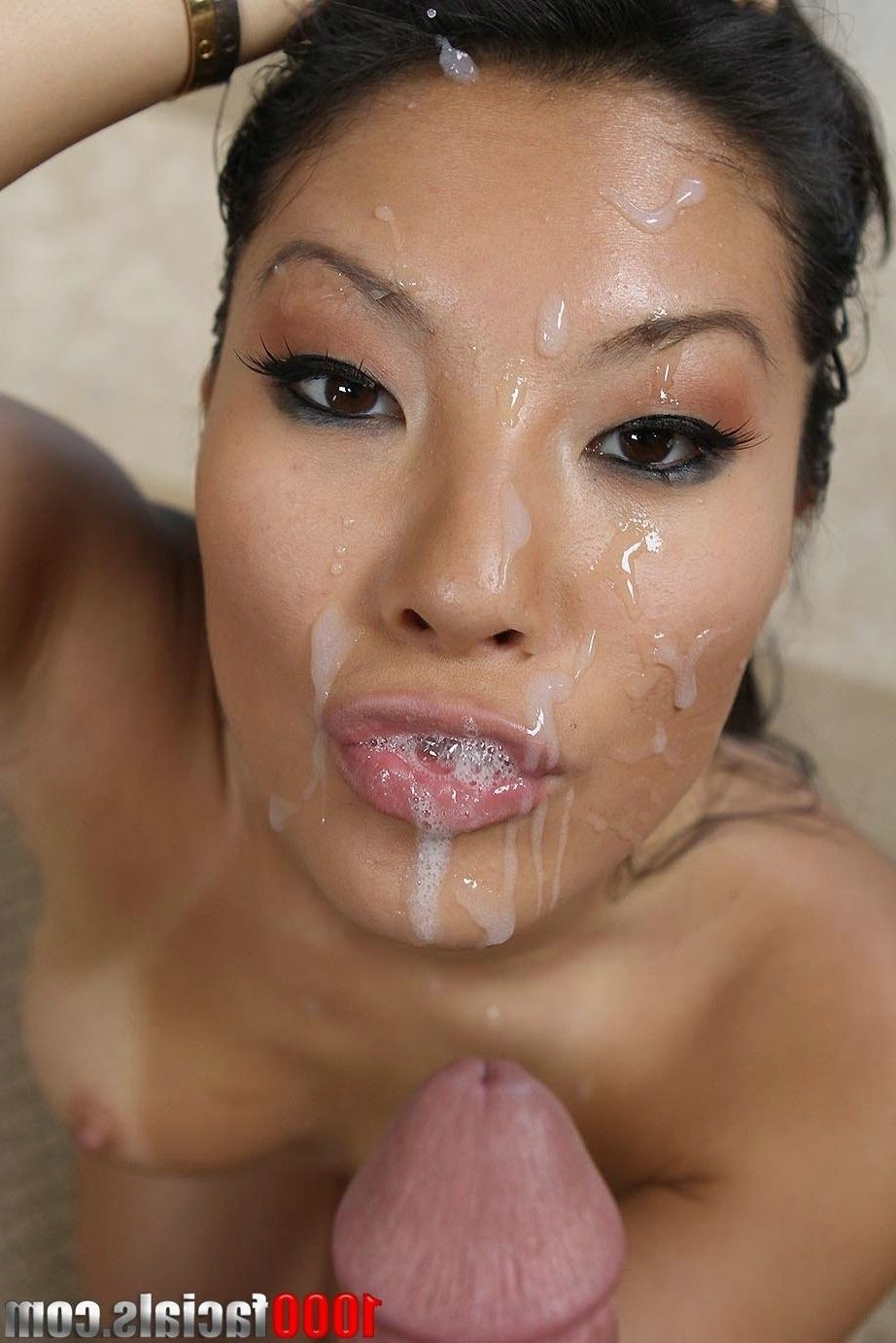 Asian cumshots facials