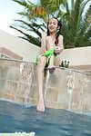 Sexually excited Japanese beauty swimming in nude