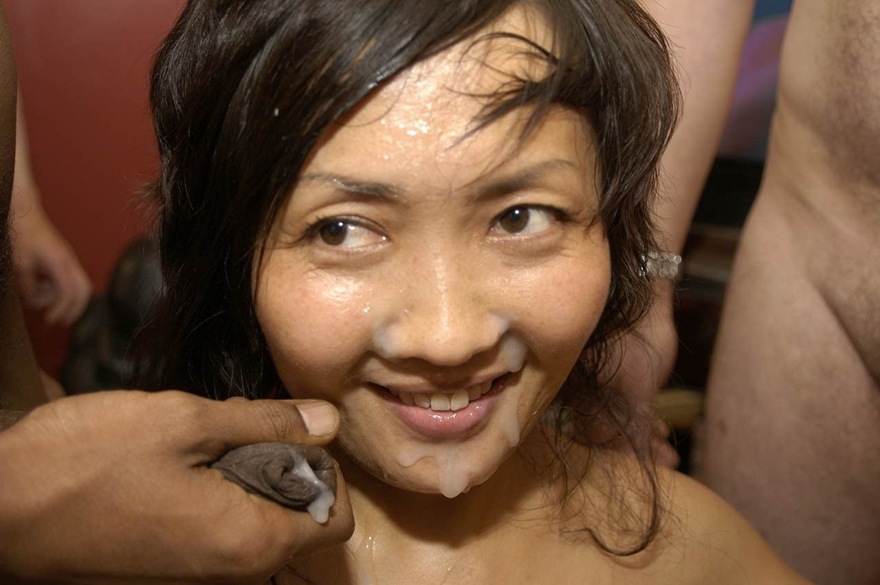 Asian spunky bukkake
