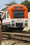 Japanese yoko is nude real time in a railroad
