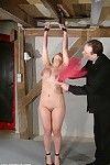 Major breast control and tit lashing of fixed firmly japanese bondage slavegirl koko li
