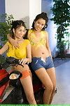 Youthful Chinese bunnie susan lee and miko