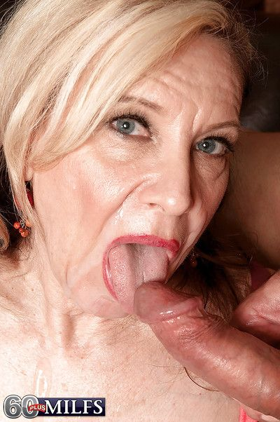 Well done granny regarding saggy titties Miranda Torri is windless energized in young cocks