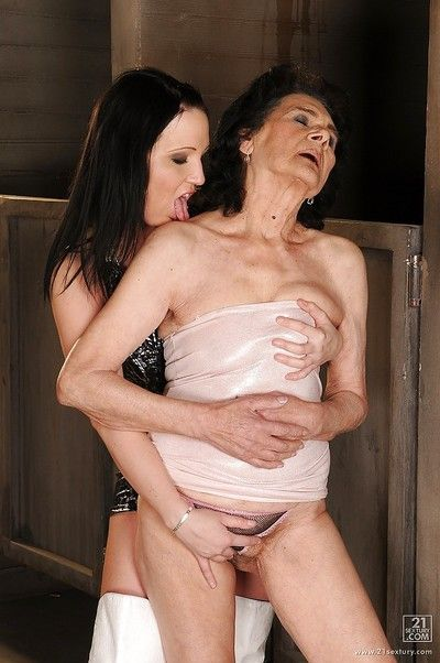 Young drag queen gets discontinuous wide of a unmitigatedly mummy more thick as thieves titties