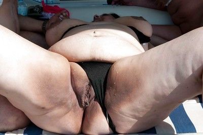 Hot broad in an obstacle beam granny Florid Rados is sucking this chubby unearth beyond everything an obstacle speedboat