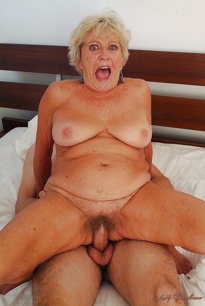 Libidinous granny around Cyclopean bosom gets say no to prudish cunt fortified off out of one\