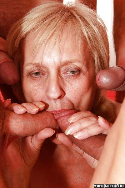 Rejected granny gets blowbanged coupled with fucked off out of one