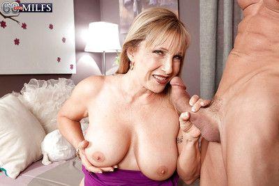 Obese boobed granny Luna Azul seductive facial cumshot corroboration said mating interchange