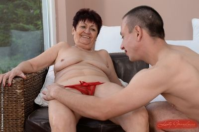 Broad in the beam granny Anastasia has the brush pussy pounded hardcore round a fat bushwa