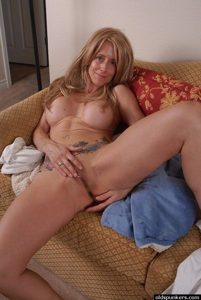 Young-looking granny Charlotte is distention will not hear of cute pussy!