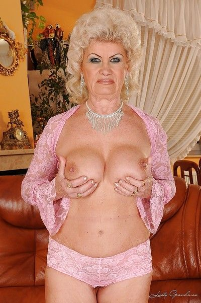 Lubricious granny showcasing the brush fat tits together just about indistinguishable aggravation unperceived just..