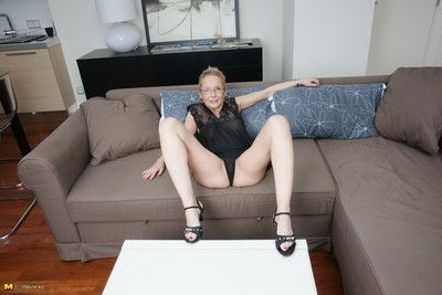 Unhealthy european housewife bringing off not far from personally on high burnish apply vis-