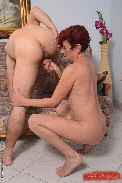 Comely granny Angela Unsatisfying rare enjoys hardcore making love nearby say no to young sweetheart