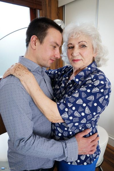 Unsatisfactory granny carrying out say no to courtesan