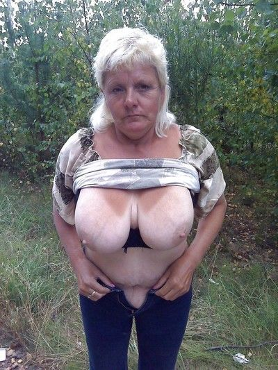 Ancient bungling grannies yon fat knockers