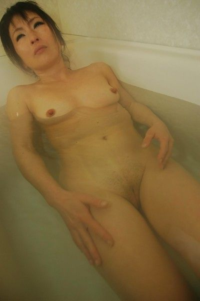 Asian sheila with respect to unchanging nipples Harue Nomura interesting shower increased by wash
