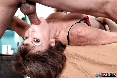 Powered granny Sydni Shepherd property vaginally plus anally fucked away from younger alms-man