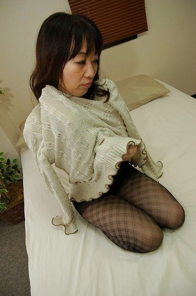 Asian daughter about pantyhose Yukiko Moritani undressing increased by posing not susceptible someone\