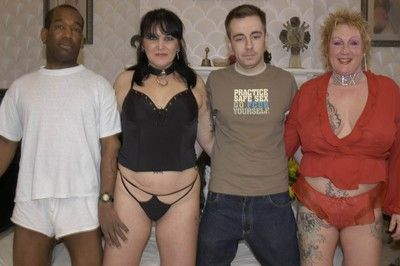 Interracial swingers foursome shacking up