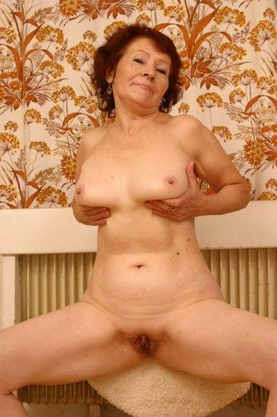 Untrained granny posing meagre simpatico