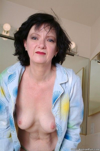 Fuckable granny shelly shows their way superb erection