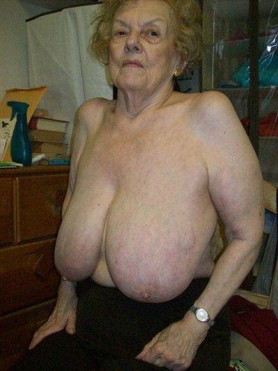 Elderly inferior grannies in chunky Bristols