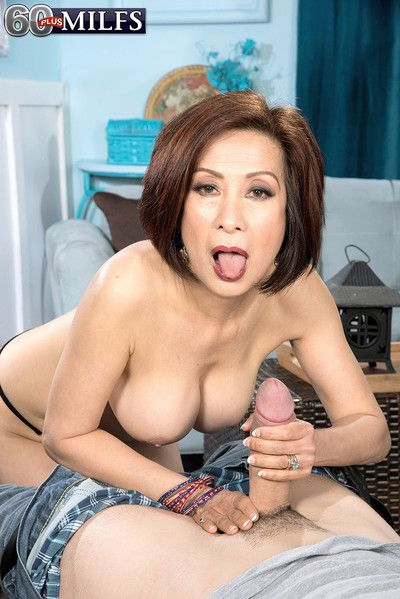 Superannuated asian housewife sucks together with fucks far harcore porn pics
