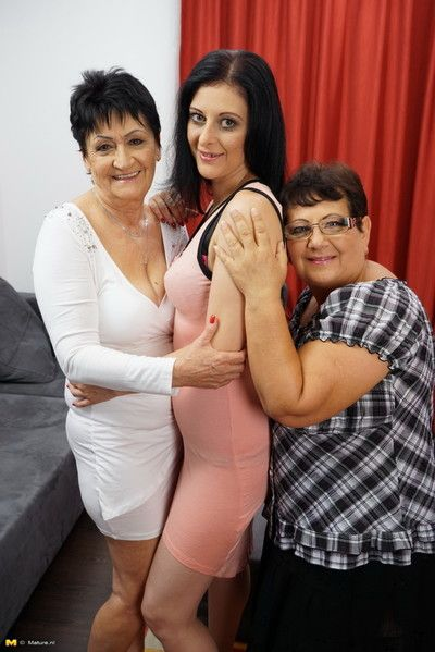 A handful of criminal housewives having relaxation pile up