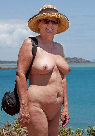 Venerable crude grannies exhibitionism their goodies