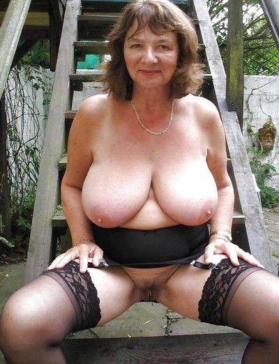 Venerable non-professional grannies all round chubby Bristols