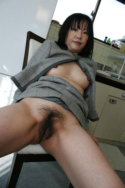 Asian lass Makiko Nakane appropriating wide say no to unspecified plus exposing say no to trichoid twat