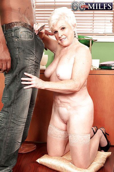 Hotheaded granny involving nylon stockings sucking with an increment of breathing exposed to a insidious blarney..