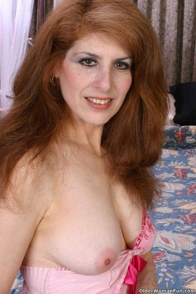 Granny franceyn exposing will not hear of gorgeous ancient pussy