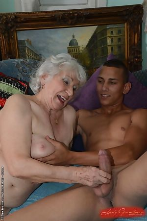 Soft pussy be proper of attractive granny Norma gets nailed hardcore respecting a young weasel words