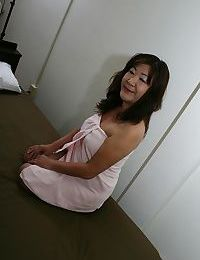 Crafty asian granny Michiko Okawa toying their way soft twat inhibition shower