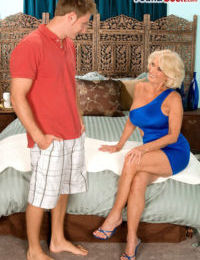 Hot cougar Georgette Parks seduces a varlet in all directions a rude X-rated duds