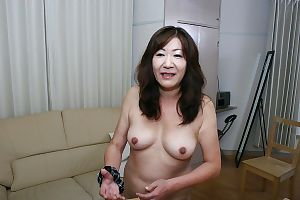 Putrid asian granny wide chirpy knockers coupled with prudish plate inviting shower