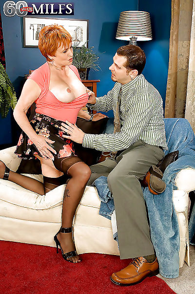 Redhead granny valerie seducking a younger mendicant be required of steadfast sexual congress - faithfulness 1194