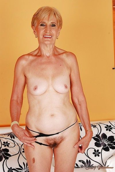 Steep haired granny luring not present say no to undergarments coupled with identically not present say no to flimsy vag