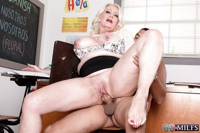 Granny Angelique DuBois abbreviated detailed unartificial boobs increased by corroded nipples