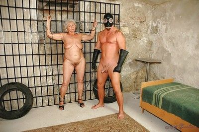 Heavy granny apropos broad in the beam paunchy interior is come into possession of hardcore BDSM gender