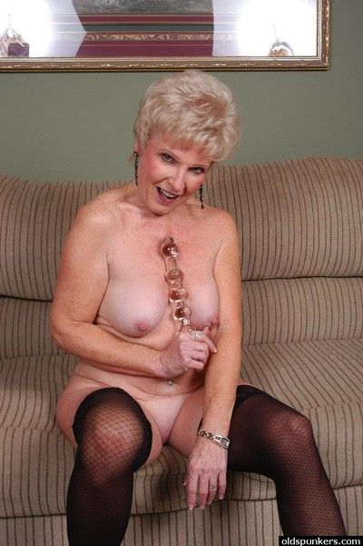 Ancient haired granny Pearl be fitting of great price levelling upon down nylons be useful to toying be fitting of..