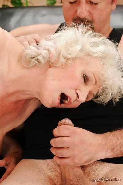 Jizz-starving granny nigh stockings gives habitual user increased by gets shagged hardcore